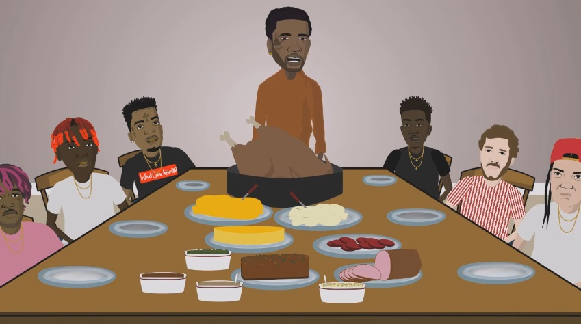 Gucci Mane Hosts Thanksgiving At His House With 21 Savage Young M.A. Lil Yachty Desiigner More - Desiigner