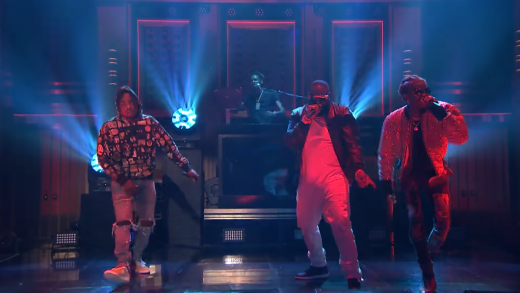 """Rick Ross ft. Young Thug & Wale Perform """"Trap Trap Trap"""" on Fallon"""