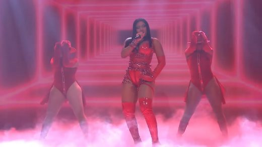 Megan Thee Stallion performs B.I.T.C.H. for the Tonight Show audience