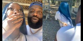 Rick Ross Makes His Kids Tug Of War With A Lion At Zoo